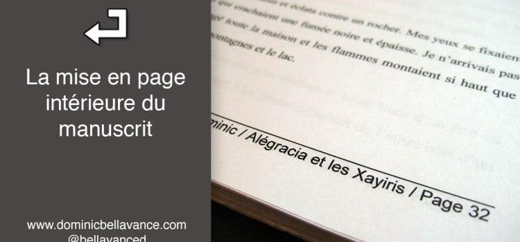 La mise en page intérieure du manuscrit