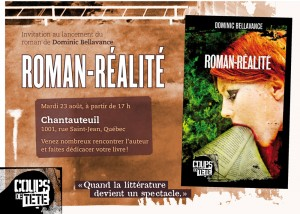 Invitation au lancement de Roman-réalité