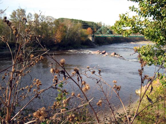 Chardons, rivière et pont