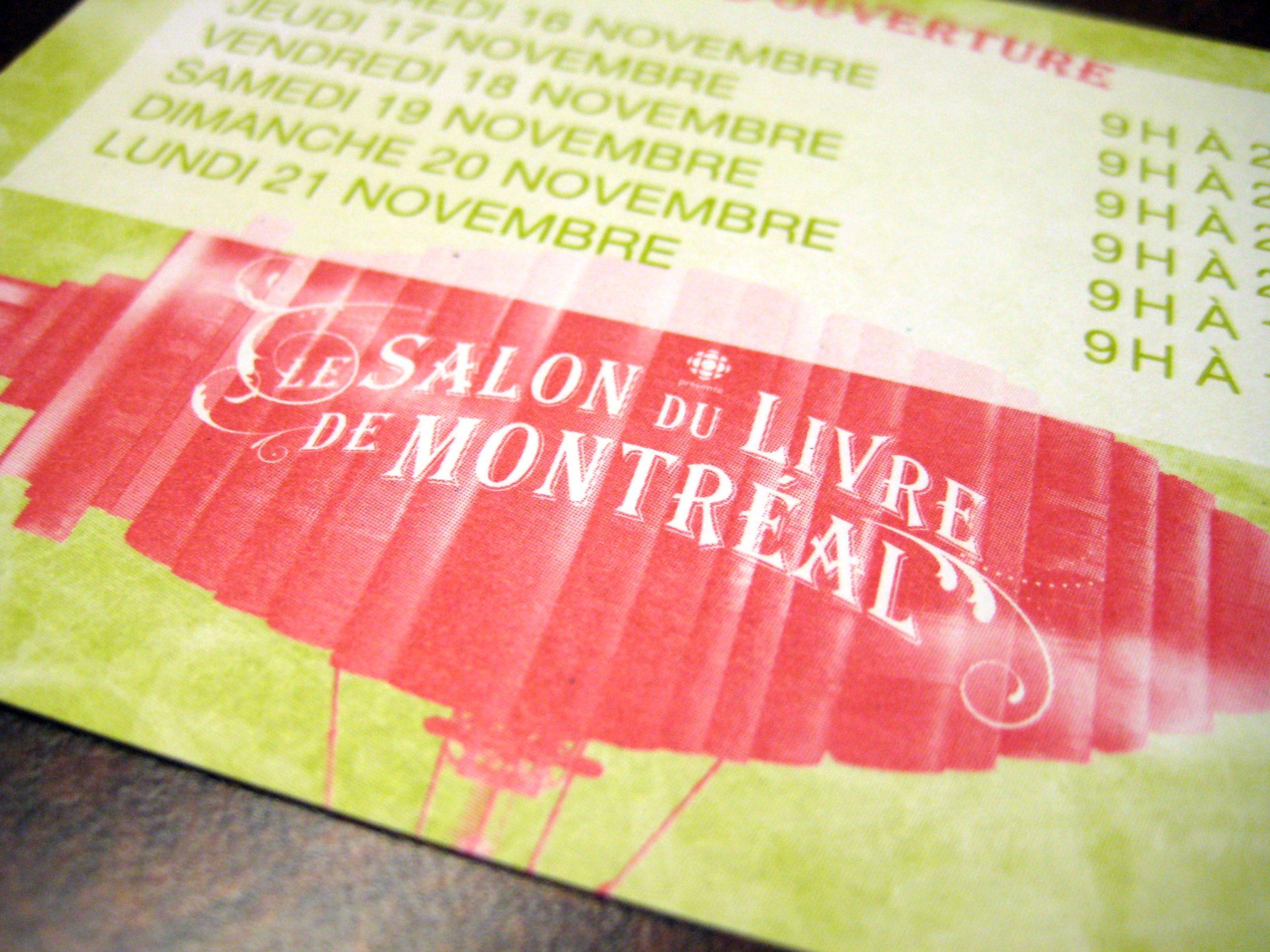 Salon du livre de Montréal (et aussi des Abénaquis)