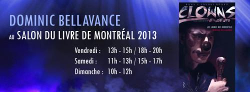 Dominic Bellavance au Salon du livre de Montréal