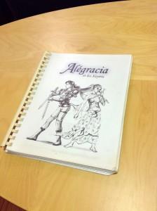Manuscrit d'Alégracia