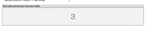 Votre total sur Excel