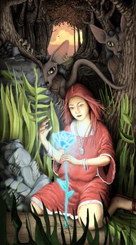 Page couverture de l'édition originale d'Alégracia et le Serpent d'Argent, parue en 2005.