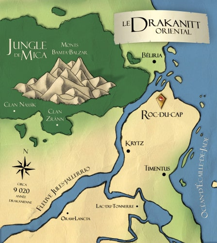 Carte du Drakanitt oriental