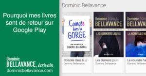 Pourquoi mes livres sont de retour sur Google Play