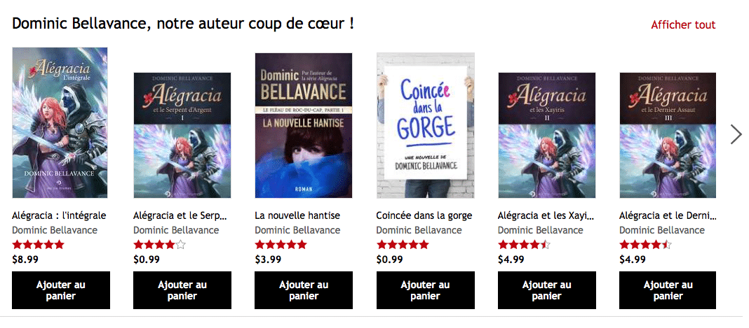 Dominic Bellavance sur Kobo