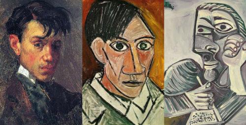 Pablo Picasso à travers différentes étapes de sa vie