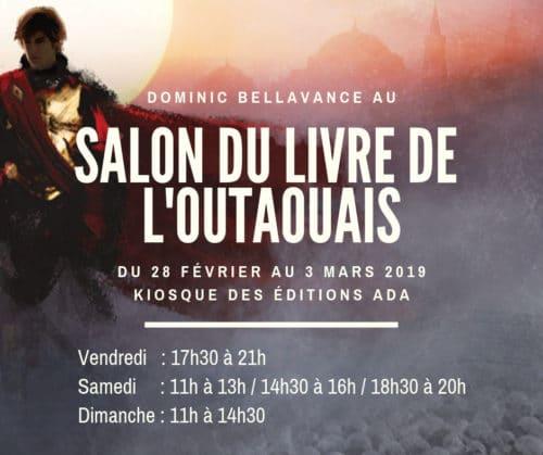Dominic Bellavance au Salon du livre de l'Outaouais