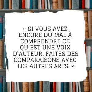 Si vous avez encore du mal à comprendre ce qu'est une voix d'auteur, faites des comparaisons avec les autres arts.