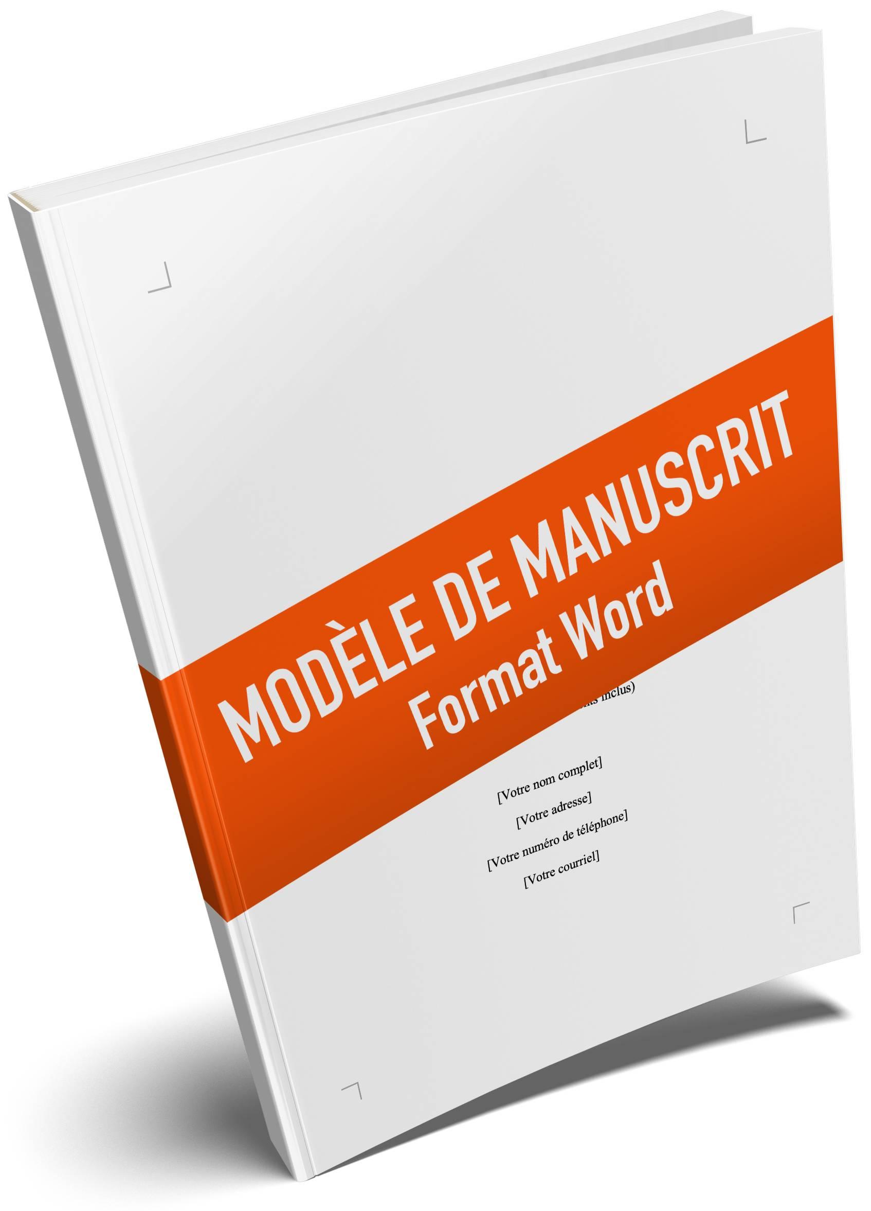 Modèle de manuscrit format Word